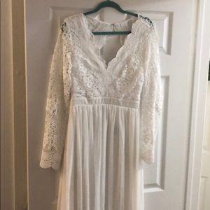 White wedding / rehearsal dress